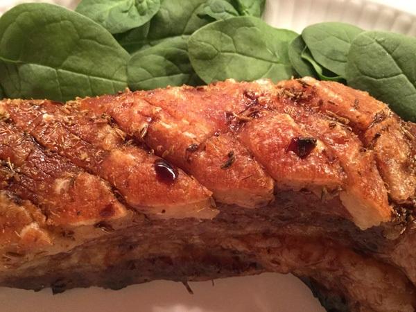 pork belly with balsamic vinegar