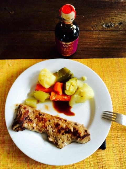 Gourmet Living Balsamic Vinegar with braised vegetables