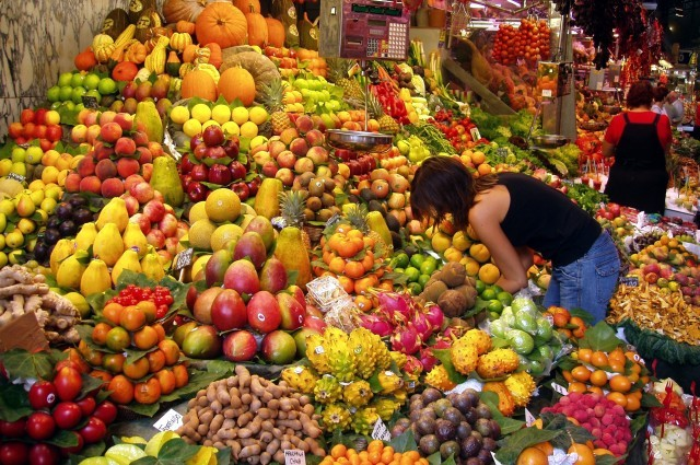 Fruit Stall in Barcelona