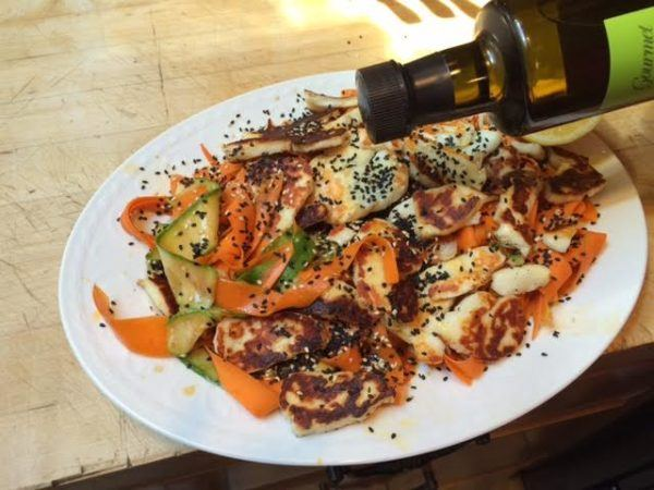 Courgette & Carrot Salad with California EVOO