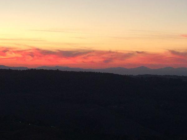 Sunset in Montepulciano