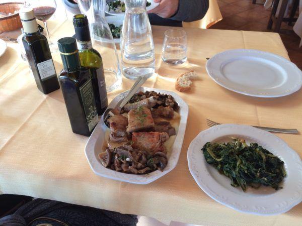 Roasted pork at Il Conte Matto