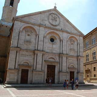 Main square in Pienza, Italy
