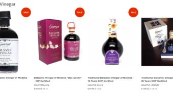 Valentine's Day Sale on Balsamic Vinegar at Gourmet Living