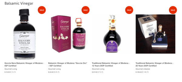 Valentine's Day Sale on Balsamic Vinegar