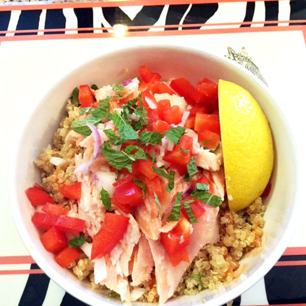 Salmon and Quinoa Bowl Recipe