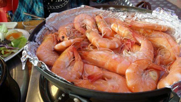 Wild-caught grilled shrimp