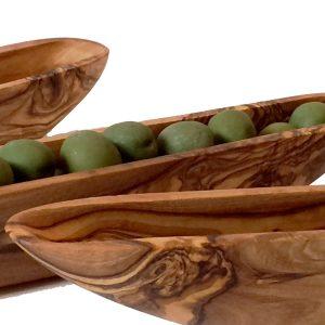 olive wood boats