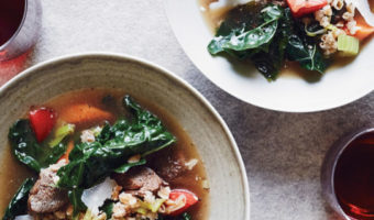 Variations on Hugh's Beef and Farro Soup