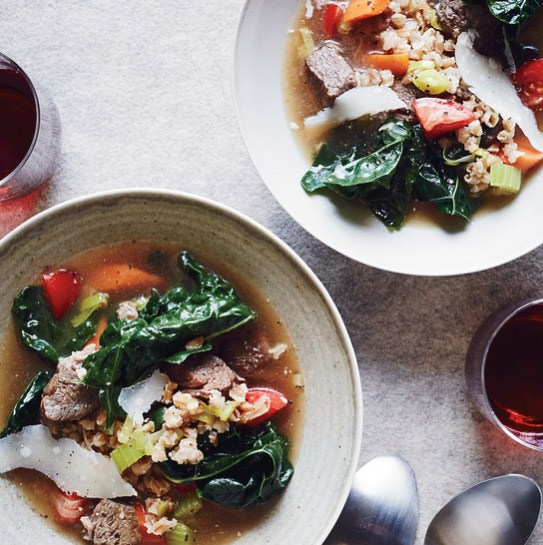 Hugh Atkinson's Beef and Farro Soup Recipe