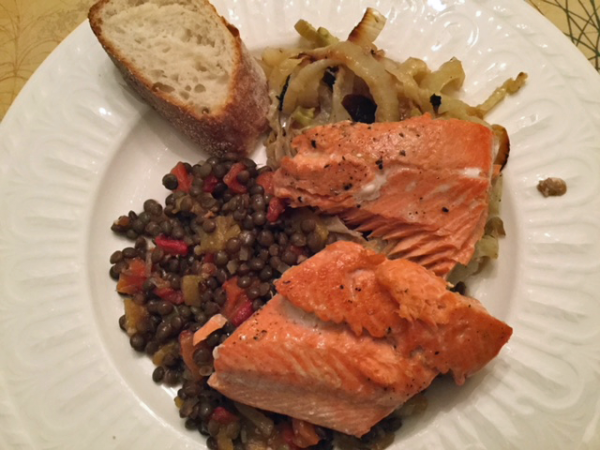 Salmon and Lentils Recipe