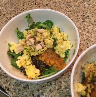 Healing Bowl with Tumeric Sweet Potatoes