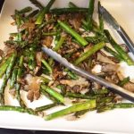 asparagus and mushrooms with balsamic vinegar