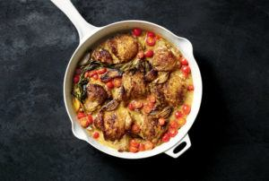 chicken with shallots form Rishia Zimmern