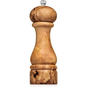 "6"" olive wood pepper mill"