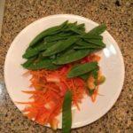 Veggies for shrimp curry