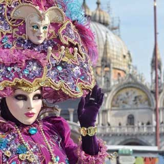 Carnival mask and Saint Mark's Square