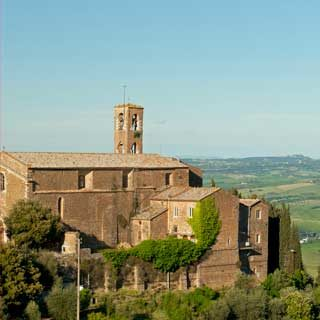 View of southern Tuscany from Montalcino