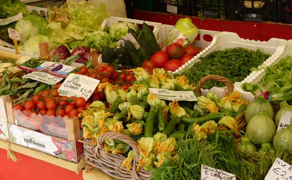 vegetables at Rialto market in Venice, Italy
