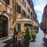 Roman dining al fresco