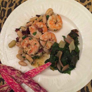 borlotti beans and shrimp
